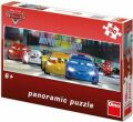 Puzzle Cars na okruhu panoramic - Disney Pixar