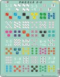 Puzzle MAXI - Násobení s kostkami/24 dílků - Larsen