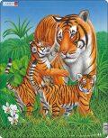 Puzzle MAXI - Tygřice s malými tygry/23 dílků - Larsen
