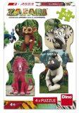 Zafari: Zoomba a kamarádi puzzle 4x54 dílků - Dino Toys