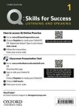 Q Skills for Success 1 Listening & Speaking Teacher´s Access Card, 3rd - Jaimie Scanlon