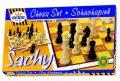 Šachy dřevěné - společenská hra společenská hra v krabici - DETOA