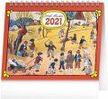 Stolní kalendář Josef Lada – Na poli 2021, 16,5 × 13 cm - neuveden