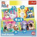 Tajný život mazlíčků 2: Puzzle/4v1 (35,48,54,70 dílků) - neuveden