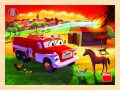 Tatra - dřevěné puzzle hasiči 20 dílků - Dino Toys