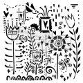 TCW šablona 30,5 x 30,5 cm - Songful flowers - TCW