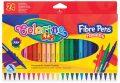 Tenké fixy 24 barev - Colorino