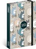 Týdenní diář Kočky 2021, 11 × 16 cm -