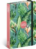 Týdenní diář Monstera 2021, 11 × 16 cm -