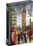 Týdenní magnetický diář Londýn 2021, 11 × 16 cm - Presco Group