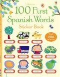 Usborne - 100 First Spanish Words Sticker Book - Mairi Mackinnon