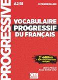 Vocabulaire progressif FLE intermédiaire 3eme édition + CD - Claire Miquel