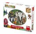 Zafari: Dřevěné obrázkové kostky 12 kostek - Dino Toys