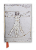 Zápisník Da Vinci: Vitruvian Man (Foiled Journal) - Flame Tree Publishing