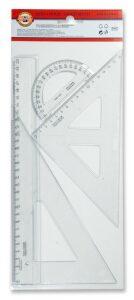 Koh-i-noor geometrická souprava velká 3ks transparenstní