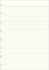 Filofax - Notebook, náplň A5, papíry linkované