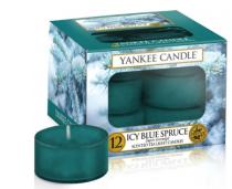 Čajové svíčky Yankee Candle - Icy Blue Spruce (12 ks)