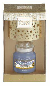 Vánoční dárková sada Yankee Candle - 1x Classic malý + stínítko