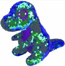 Beanie Boos Flippables CRUNCH - fialovo-zelený dinosaurus 24 cm