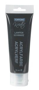 Akrylová barva černá 75 ml