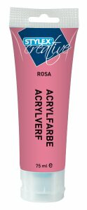 Akrylová barva 75 ml růžová