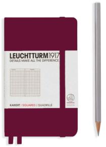 Zápisník Leuchtturm1917 Port Red Pocket čtverečkovaný