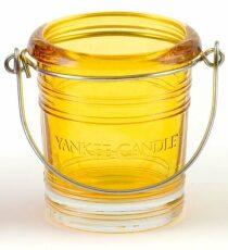 Svícen na votivní svíčku Yankee Candle Glass Bucket (žlutý)