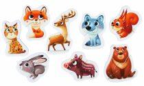 Lesní zvířátka: naučné puzzle 8 zvířátek: 16 dílků
