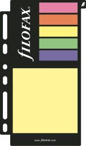 Filofax barevné lepící papírky (post-it)