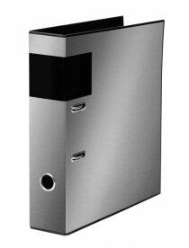 Pořadač A4 lamino páka 7cm Metallic stříbrná