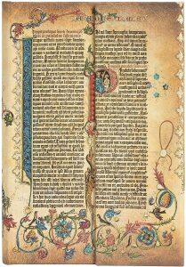 Zápisník Paperblanks - Gutenberg Bible Parabole, Mini / linkovaný