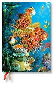 Paperblanks Diář 2021 - Sea Fantasies / midi denní