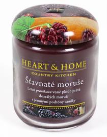 Svíčka Heart & Home - Šťavnaté moruše velká svíčka (340 g)