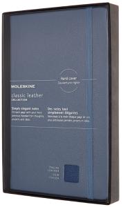 Moleskine Zápisník černý L kožený, linkovaný, měkký