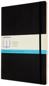 Moleskine Zápisník černý A4, tečkovaný, měkký