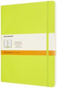 Moleskine: Zápisník měkký linkovaný žlutozelený XL