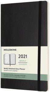 Moleskine Zápisník plánovací 2021 černý L, měkký