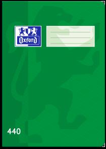 Školní sešit Oxford 440 zelený