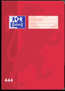 Školní sešit Oxford 444 červený