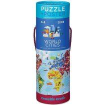 Poster & Puzzle: World Cities / Puzzle a plakát: Světová města (200 dílků)