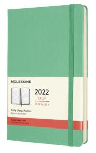 Moleskine Diář 2022 zelený L, denní, tvrdý