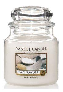 Svíčka Yankee Candle Classic - Baby Powder (střední)