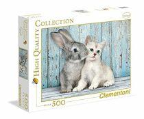 Puzzle kočka a králík - 500 dílků