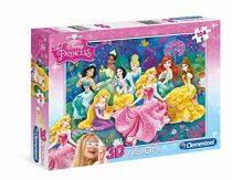 3D puzzle Princezny - 104 dílků