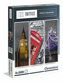 Vertikální puzzle Londýn - 3 x 500 dílků