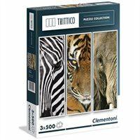 Puzzle zvířata - 3x500 dílků