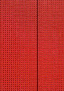 Zápisník Paper-oh - Circulo Red on Black A7 čistý