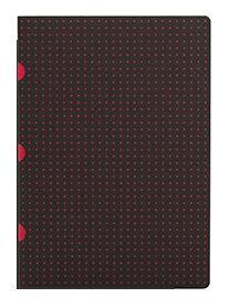 Sešit Paper-oh - Circulo Black on Red A4 linkovaný