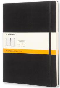 Moleskine - zápisník - linkovaný, černý XL