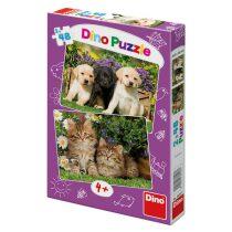 Mazlíčci - puzzle 2x48 dílků